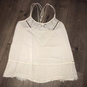Express Lace and Beaded Top
